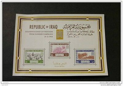 Iraq 335a MNH souvenir sheet block FAO Freedom from Hunger issue 1963