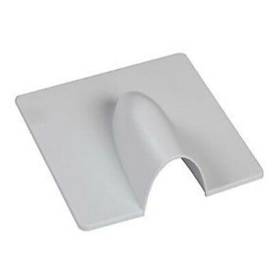 White Brick Buster Plate-Cable Wall Entry Tidy Cover-Satellite/Coaxial RM24 Post