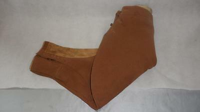 "VINTAGE PAIR OF BROWN CAVALRY TWILL BREECHES 26""waist (ELEPHANT EAR)"