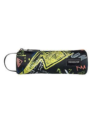 "QUIKSILVER ""PENCILO"" BOYS PENCIL CASE. BLACK THUNDERBOLTS (kvj7)"