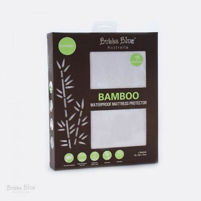 Bubba Blue Baby Bamboo Waterproof Fitted Mattress Protector Bassinet Size