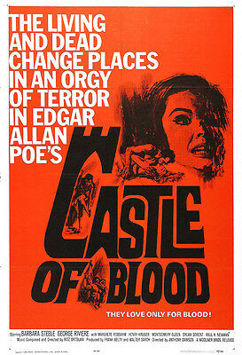 Castle Of Blood Movie Poster Print - 1964 - Horror - One (1) Sheet Artwork