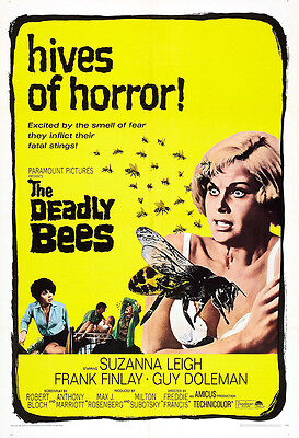 The Deadly Bees Movie Poster Print - 1966 - Horror - One (1) Sheet Artwork