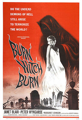 Burn Witch Burn Movie Poster Print - 1962 - Horror - One (1) Sheet Artwork