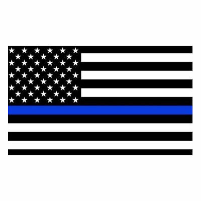 3 Inch Non-Reflective Thin Blue Line American Flag Support Police Sticker Decal