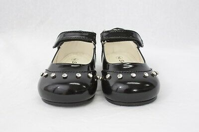 Girls Black Patent Formal Shoes Party Wedding Christening Toddler Size 3
