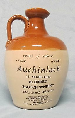 Auchinloch Scotch Whisky Jug, made in Scotland, used and empty
