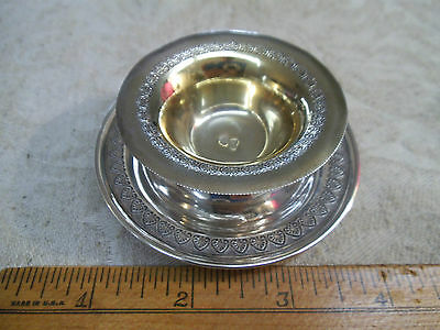 Antique Turkish 900 Silver Miniature Delicate Signed HT Bowl & Plate-Mint-Nut
