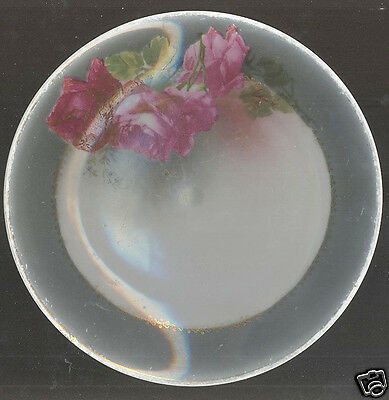 """Hutschenreuther Handpainted Bread & Butter Dish Germany Selb Bavaria 7 3/4"""""""