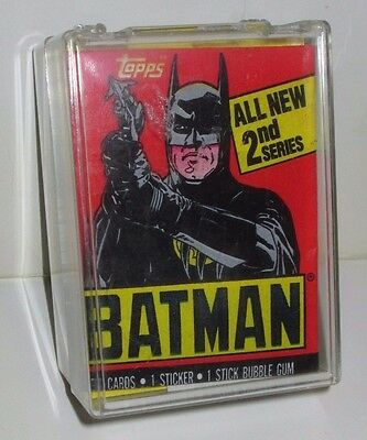 Topps 1989 Batman Movie Keaton Nicholson Trading Cards Set & 2 Wrappers Series 2
