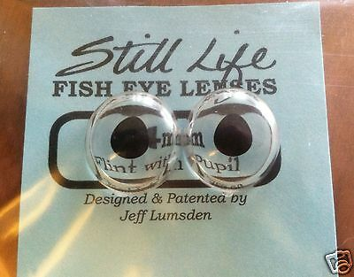 "Jeff Lumsden Taxidermy Flint ""With Pupils"" Fish Eye Lenses 10,12,14,16, & 18mm"