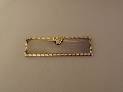 """Sterling Silver and gold Asprey """"Moustache"""" comb or """"Childs"""" comb, London 1947"""