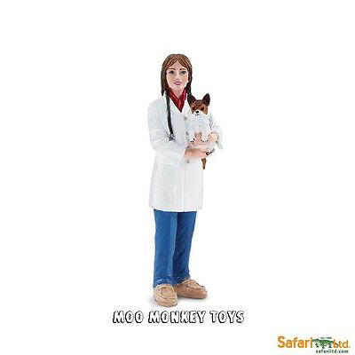 JENNY the VETERINARIAN with small dog Safari People #226429  Toy Replica NWT