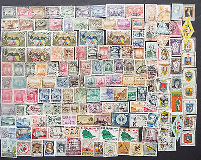 Air Mail Stamps From Ecuador