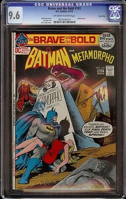 Brave and the Bold # 101 CGC 9.6 OWW (DC, 1972) Twin Cities Pedigree