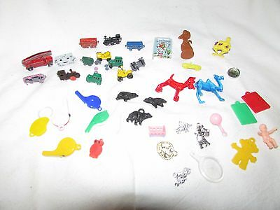 Vintage Lot of 40 Cracker Jack Toy Prizes, Gumball, Charms, Advertising