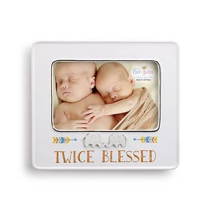 Nat & Jules Demdaco Twice Blessed Twins Picture Frame for 4x6 Photo