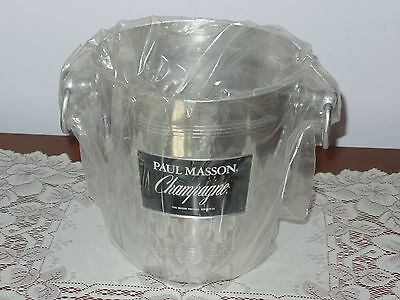Vintage Paul Masson Aluminum Champagne Ice Bucket Chiller Never Used?