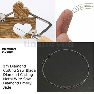 DIY Diamond Cutting Wire Saw Blades for Metal Emery Jade Glass Rock Stone 0.26mm