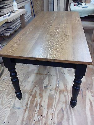 Quarter sawn white oak farm table