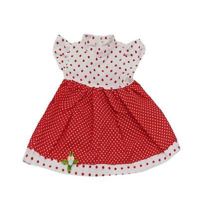 Fashion Red and White Polka Dot Dress for 18'' American Girl Journey Doll