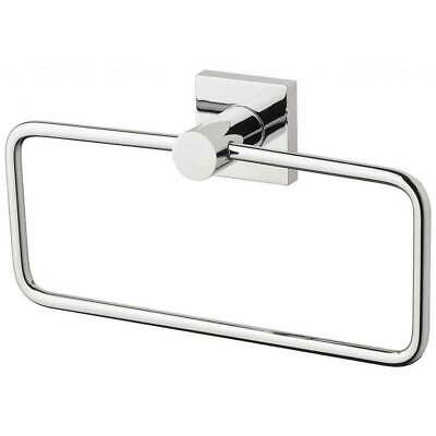 New Metal Guest Towel Holder Chrome Square Plate Phoenix Tapware RADII RS893CHR