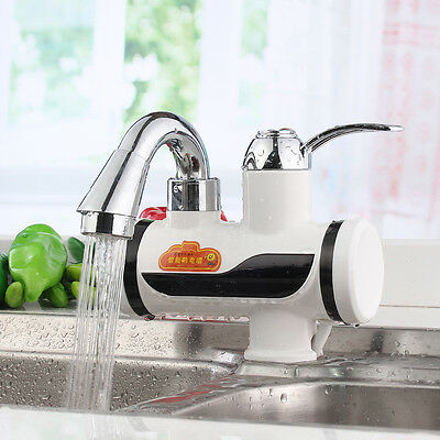 Electric Tankless Faucet Water Heater Instant Hot&Cold Mixer Tap Kitchen Bath AU