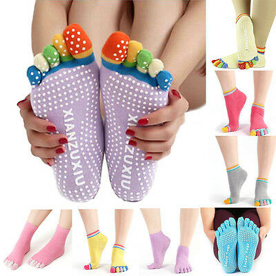 Women Ladies Yoga Socks Sport Socks Pilates Toe Socks Non Slip Massage Fitness