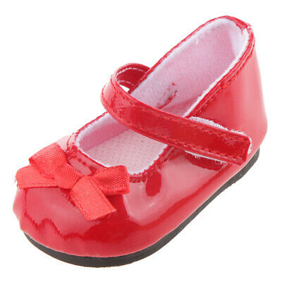 """Red Mary Jane School Shoes for 18"""" American Girl Doll Clothes Our Generation"""