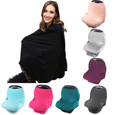 Mum Breastfeeding Nursing Cover Up Baby Car Seat Canopy Cover Swaddle Cloth Wrap