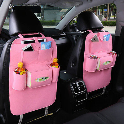Auto Car Seat Back Multi-Pocket Storage Bag Organizer Holder Accessory MW
