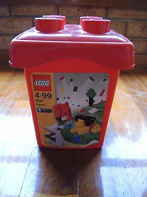 Lego tub empty storage container 4029 Red from 2003
