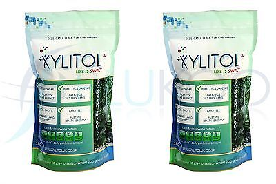 Xylitol Sweetener Pouch - 1000g (Pack of 2)