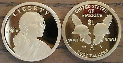 "2016-s Cameo Proof Native American Dollar - with ""Code Talkers"" Reverse     (L1)"