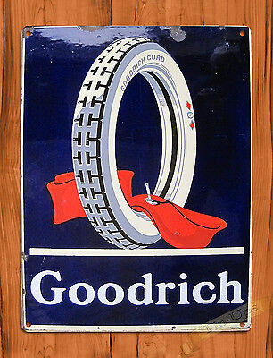 "TIN SIGN ""Goodrich Tires"" Garage Shop Mechanic Rustic Wall Decor"