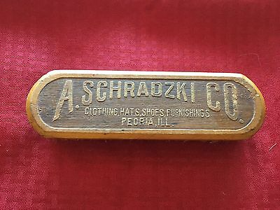 VTG Advertising Clothes Shoe Brush Made Germany A. Schradzki Co Clothing Hats