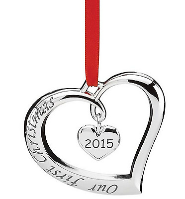 Lenox 2015 Our First Christmas Forevermore Heart Ornament