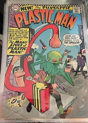 PLASTIC MAN #2  1966  NEW THE FUNTASTIC     5.5 cond
