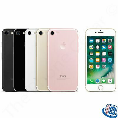 AT&T Locked Apple iPhone 7 32GB 128GB Black Rose Gold Silver GSM Smartphone