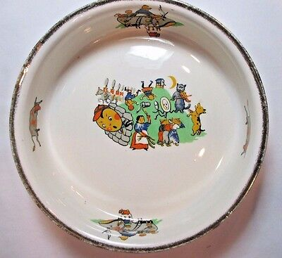 VINTAGE 50's ALFRED MEAKIN CHILD'S NURSERY RHYMES PORCELAIN CEREAL BOWL ENGLAND