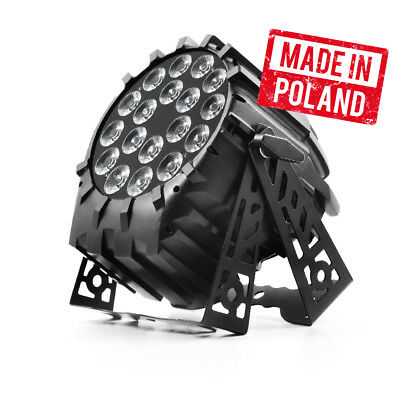 Flash Pro LED PAR 64 Scheinwerfer 18x 10W RGBW Section Control DMX Powercon