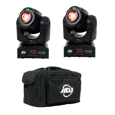 2x ADJ American DJ Inno Pocket Spot LZR + Bag Set LED Moving Head Licht Set