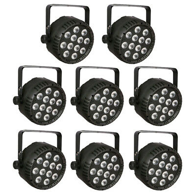 8x Showtec Club Par 12/6 RGBWAUV LED 12x 10W Scheinwerfer Strahler Par Light Set