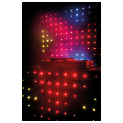 Showtec Visiondrape DJ Curtain Set LED Video Vorhang Tuch LED Effekt 5050 x RGB