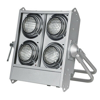 Showtec Stage Blinder 4 Polished DMX 4x 650W DWE aktiv Fluter Rampe Band Bühne