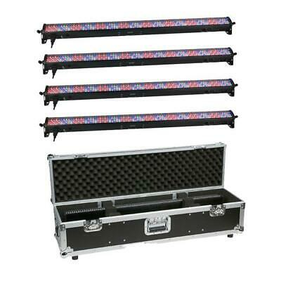 4x Showtec LED Light Bar 16 Lichtleiste RGB DMX Beleuchtung Deko Licht +Case Set
