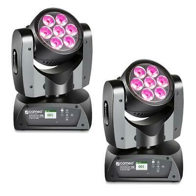 2x Cameo Aurobeam 150 RGBW 7x15W LED QCL Moving Head Beam Effect Light Licht Set
