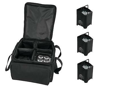 EUROLITE Set 4x AKKU UP-4 HCL Spot WDMX sw + SB-4 Soft-Bag LED Scheinwerfer Set