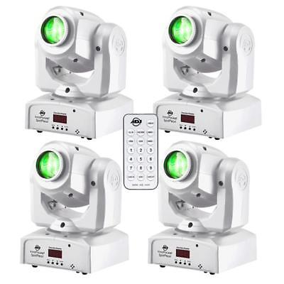 4x ADJ American DJ Inno Pocket Spot PEARL LED Moving Head DMX Light + IR FB Set