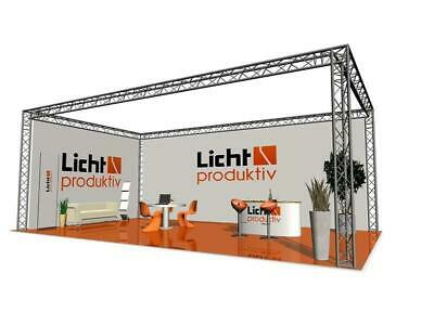 Prolyte Truss X30D Messestand 4 x 4 x 3m Traversenstand 3-Punkt Messebau Stand